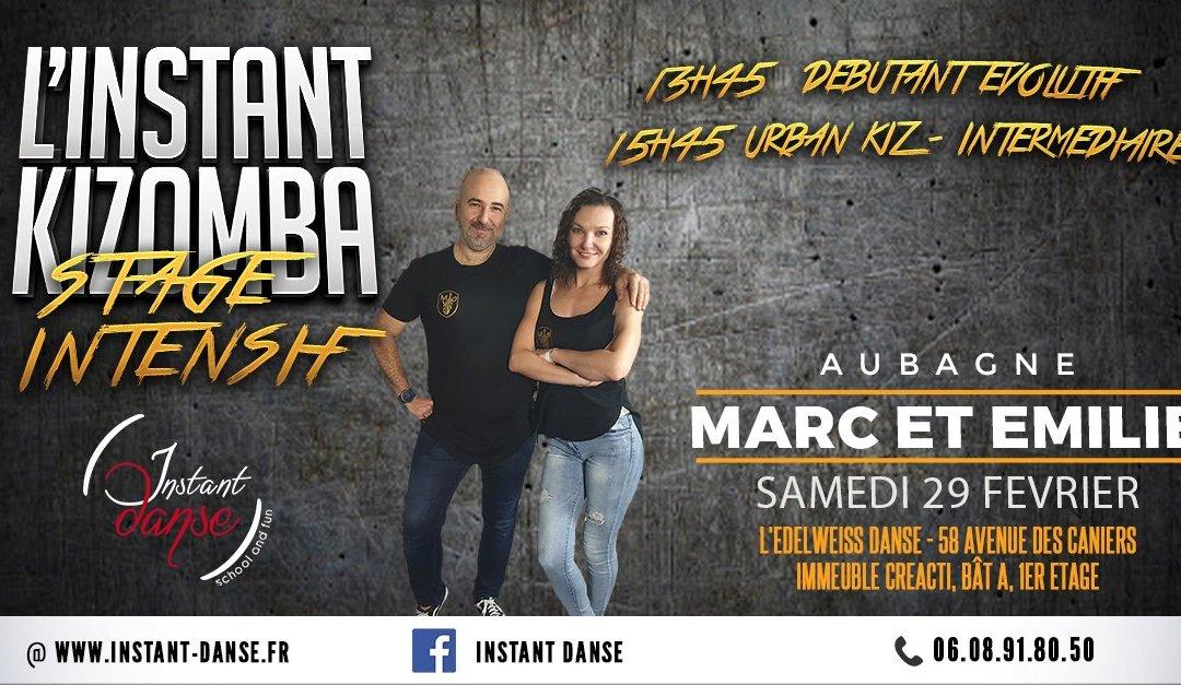 L'Instant Kizomba : Stage Intensif avec Marc et Emilie